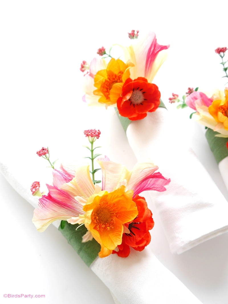 DIY Ronds de Serviette Floraux - BirdsParty.fr