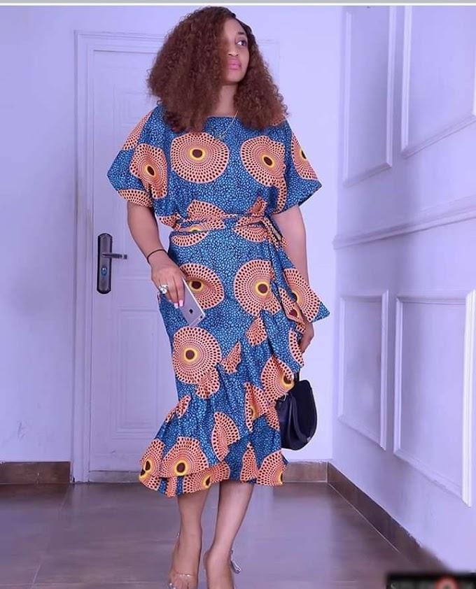 Inspection Ankara gown