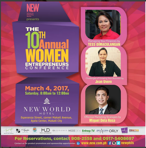 Network for Enterprising Women (NEW), 10th Annual Women Entrepreneur Conference, speakers,