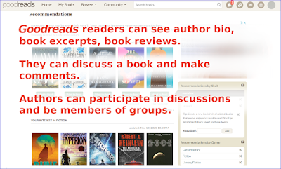 Authors can make good use of Goodreads..
