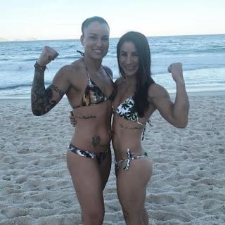Raquel Pennington With Tecia Torres At The Beach