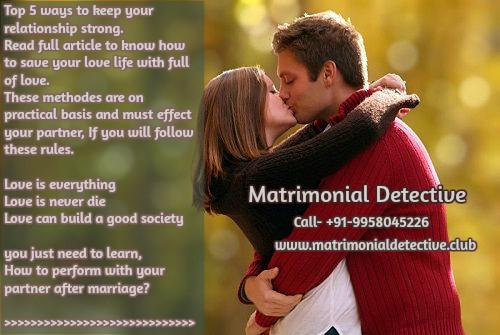 Why do we need pre matrimonial investigation