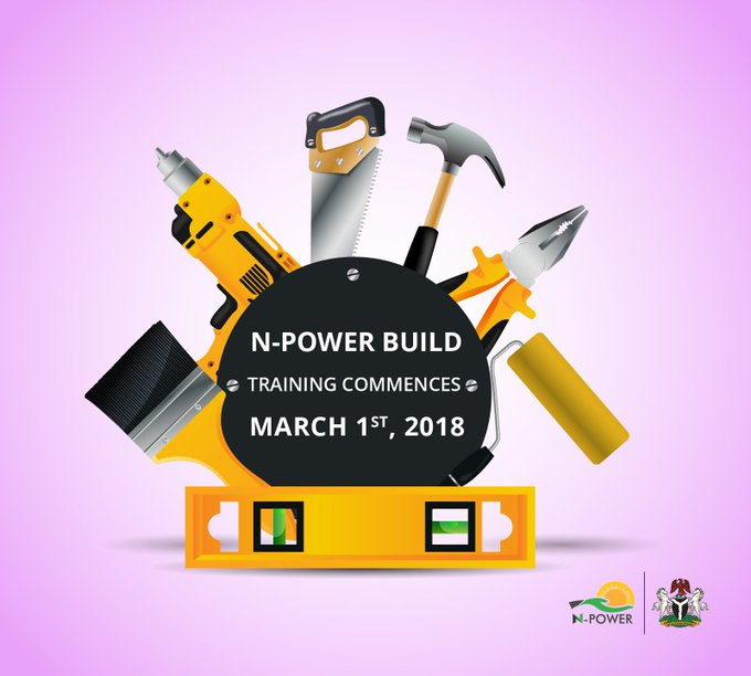 NPOWER BUILD TRAINING FOR THE NPOWER PROGRAME COMMENCES