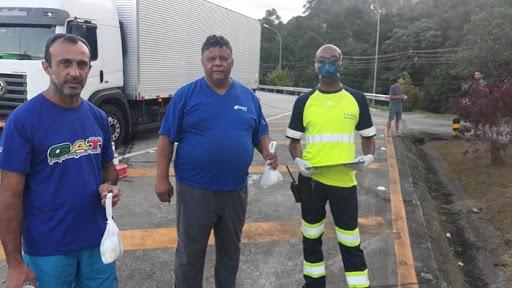 Covid-19: Arteris já distribuiu 4.600 kits de higiene e atendeu mais de 11 mil caminhoneiros