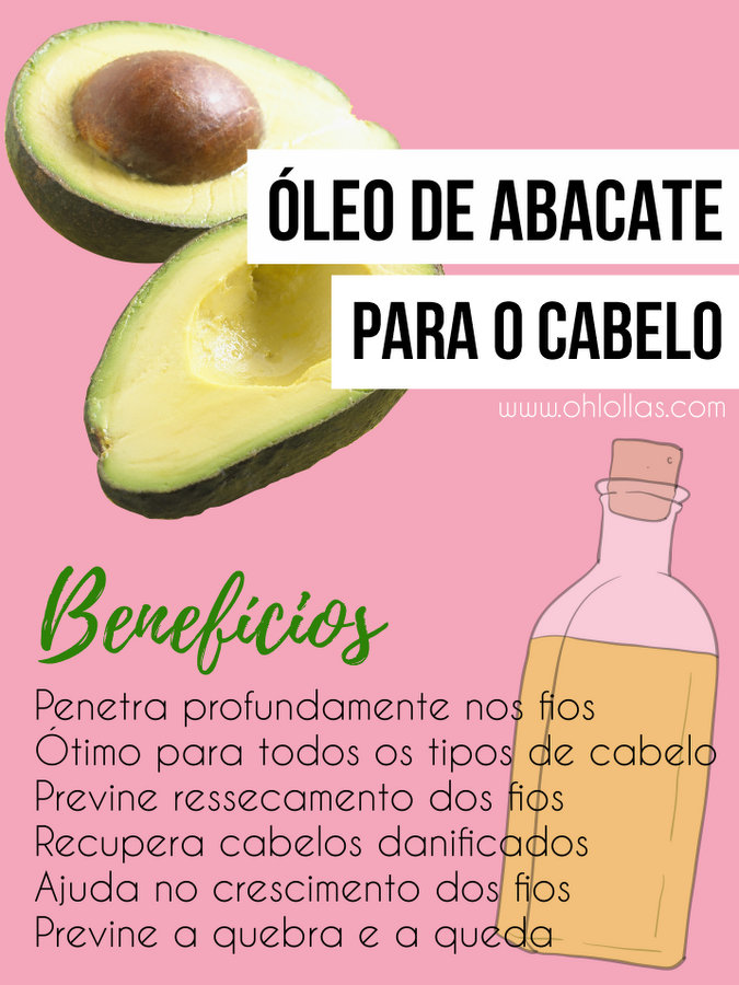 Benefícios do óleo de abacate para o cabelo e como usar. Umectação capilar noturna. O óleo de abacate penetra profundamente nos fios. Indicado para todos os tipos de cabelo e excelente para hidratar e condicionar cabelos ressecados ou tratados quimicamente.