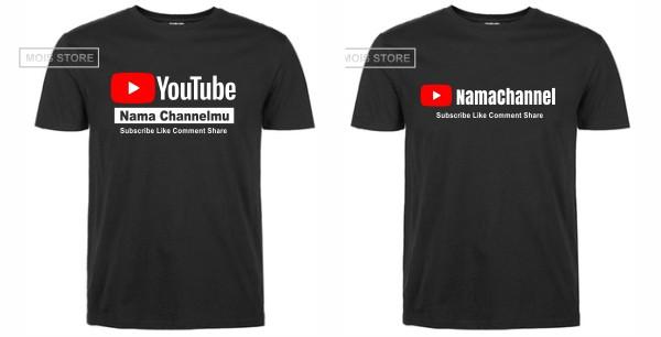jaket youtube custom nama channel