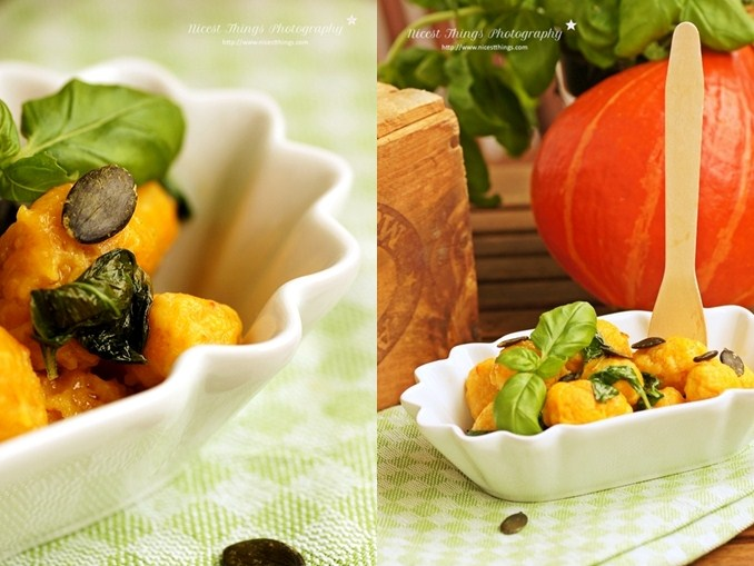 Kürbis Gnocchi Rezept mit Basilikum-Butter