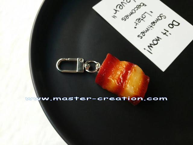 mini simulated meat pendant