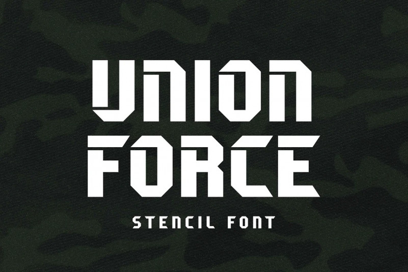 Union Force Font - Free Stencil Military Typeface