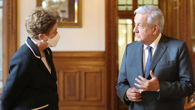 Presidente se reúne con expresidenta de Brasil, Dilma Rousseff, en Palacio Nacional