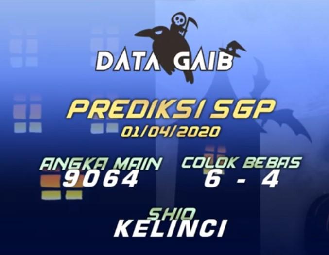 Prediksi SGP Rabu 01 April 2020 - Data Gaib SGP