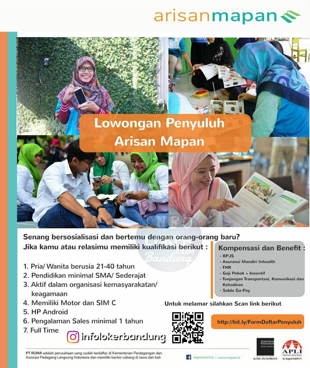 Lowongan Kerja PT. RUMA ( Rekan Usaha Mikro Anda ) Bandung November 2018