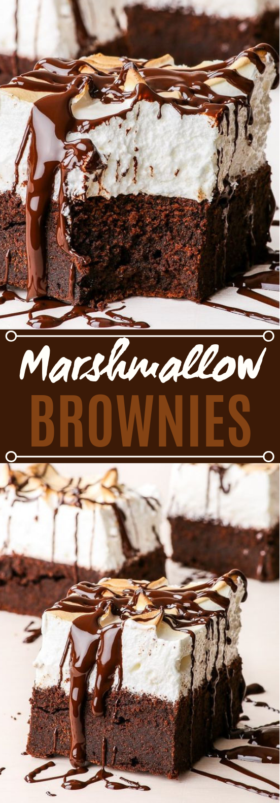 Marshmallow Brownies #chocolate #desserts