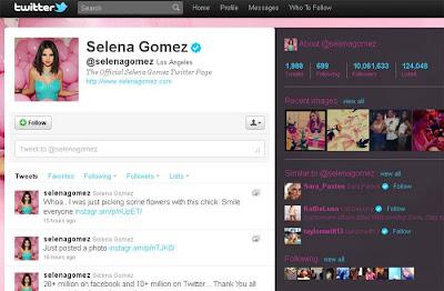 Twitter da Selena Gomez