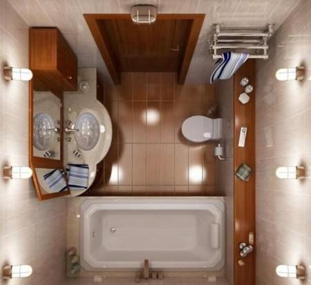 صور أجمل تصميمات ديكور حمامات صغيرة وبسيطة للمساحات الضيقة