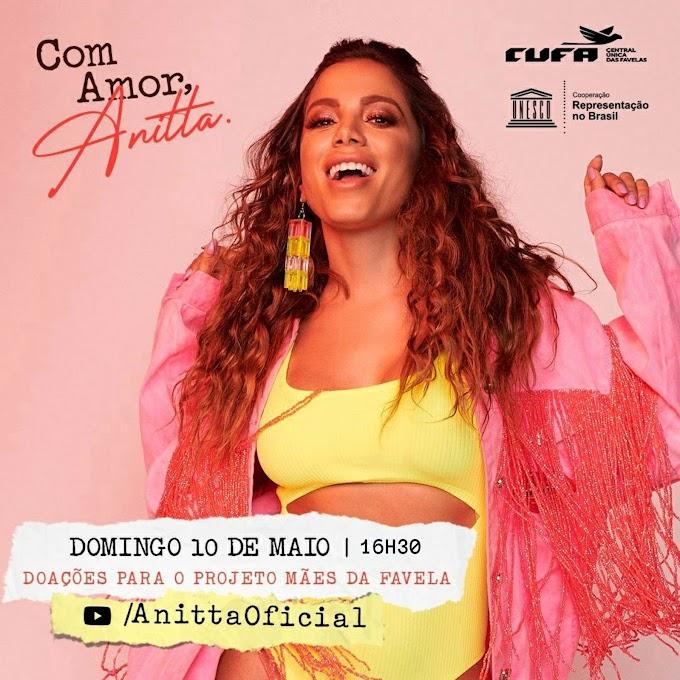 Anitta músicas: A cantora brasileira Anitta anunciá que fará live especial em alusivo à dia das mães