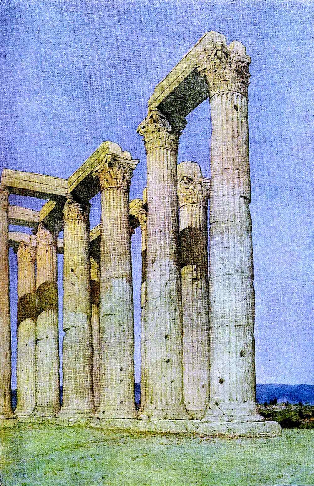 Jules Guérin, columns ruins