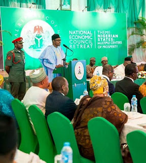 buhari at Nigeria economic retreat
