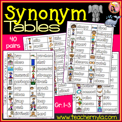 Synonyms List for kids