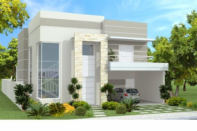 Plantas de casas modernas de 2 andares for Casas modernos 2016