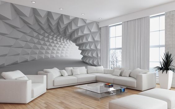 Fantasy 3d wallpaper designs for living room bedroom walls for Home wallpaper designs for living room