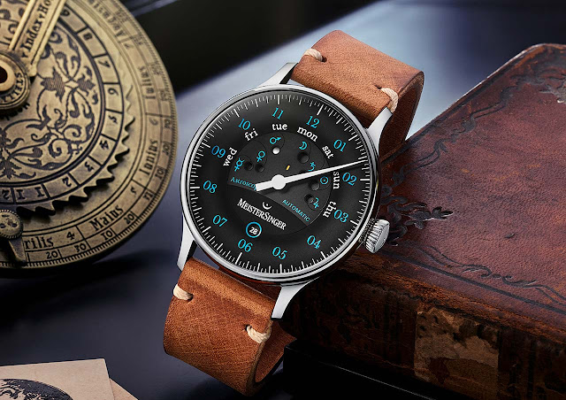 The new MeisterSinger Astroscope with blue numerals