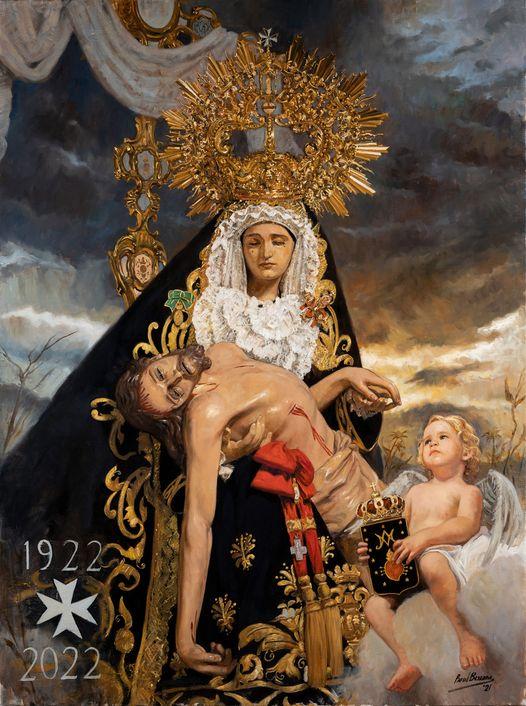 Cartel del Centenario Fundacional de la Cofradía de Ntra. Sra. De las Angustias Coronada de Vélez-Málaga