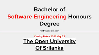 Bachelor of Software Engineering Hons Degree OUSL