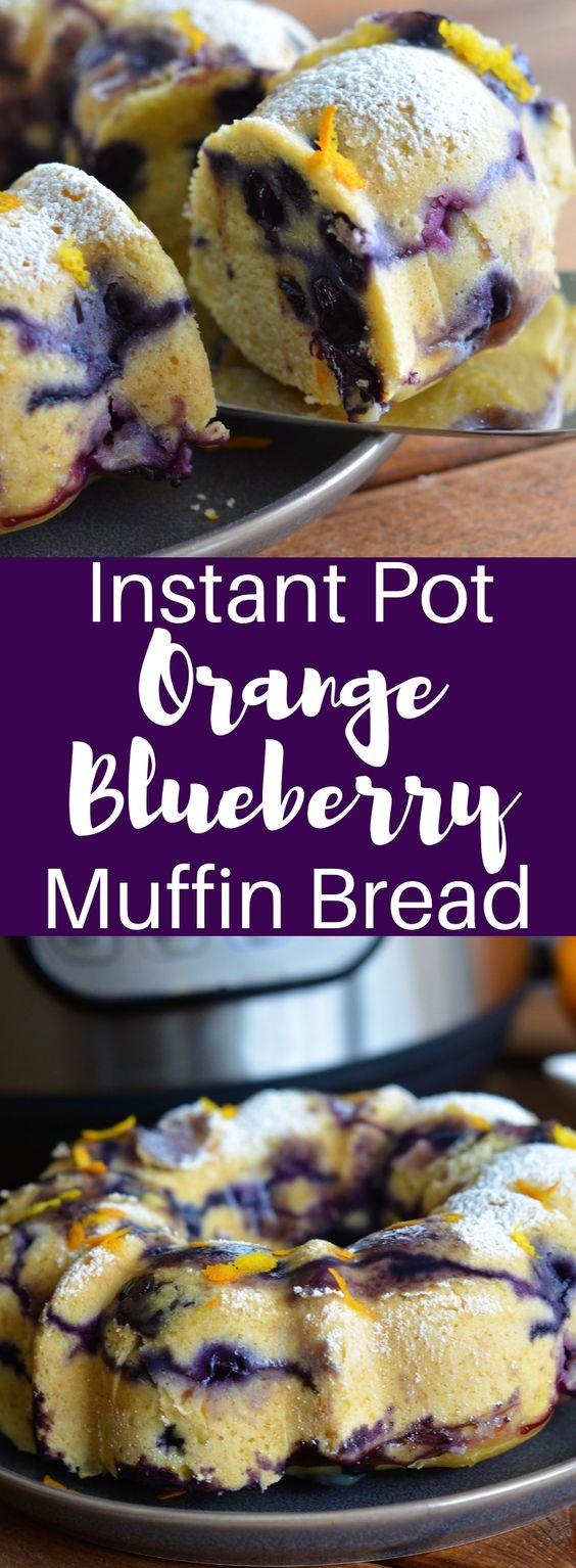 Instant Pot Orange Blueberry Muffin Bread