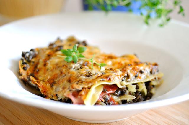 lækker lasagne med linser