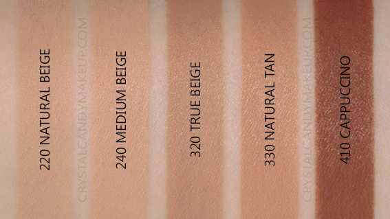 Revlon Colorstay Foundation Normal Dry Swatches 220 240 320 330 410 NW30 NW40 NW50 MAC