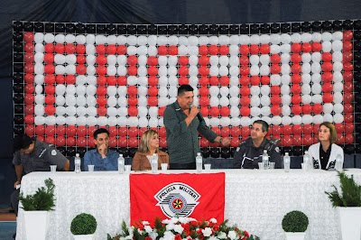 Solenidade de formatura do Proerd leva 2 mil pessoas ao Ginásio de Esportes em Sete Barras