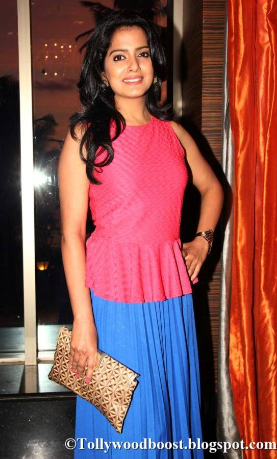Vishakha Singh In Pink Dresss At Hindi Movie Trailer Launch