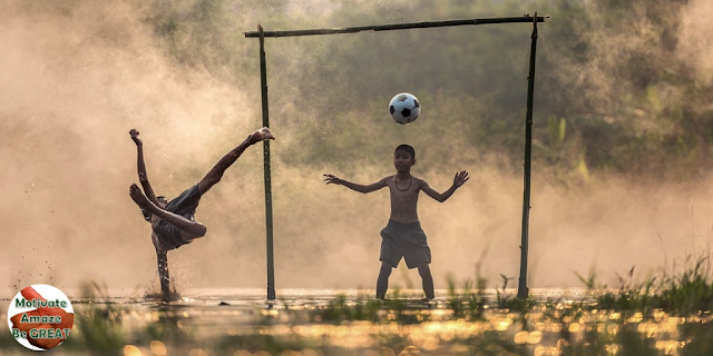 "Image representing ""happy kids playing soccer"", featured in the article ""6 Benefits Of Exercise And Sports For The Mind And Body"""