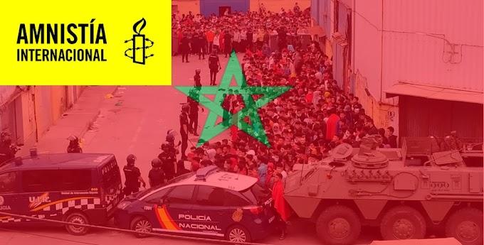 Amnistía Internacional acusa a Marruecos de utilizar inmigrantes para sus luchas políticas.