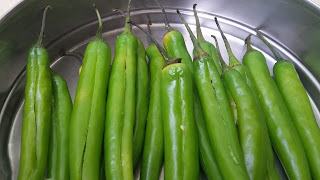 Green chillies - mirchi