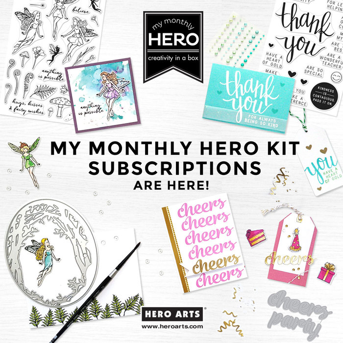 Hero Arts My Monthly Hero Kit Subscriptions!