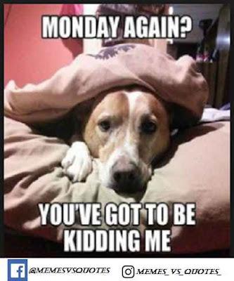 Monday agaiin