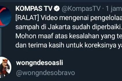 KOMPAS TV Akhirnya Ralat dan Minta Maaf terkait Pengelolaan Sampah Jakarta Tapi Pakai Video Sampah Bekasi