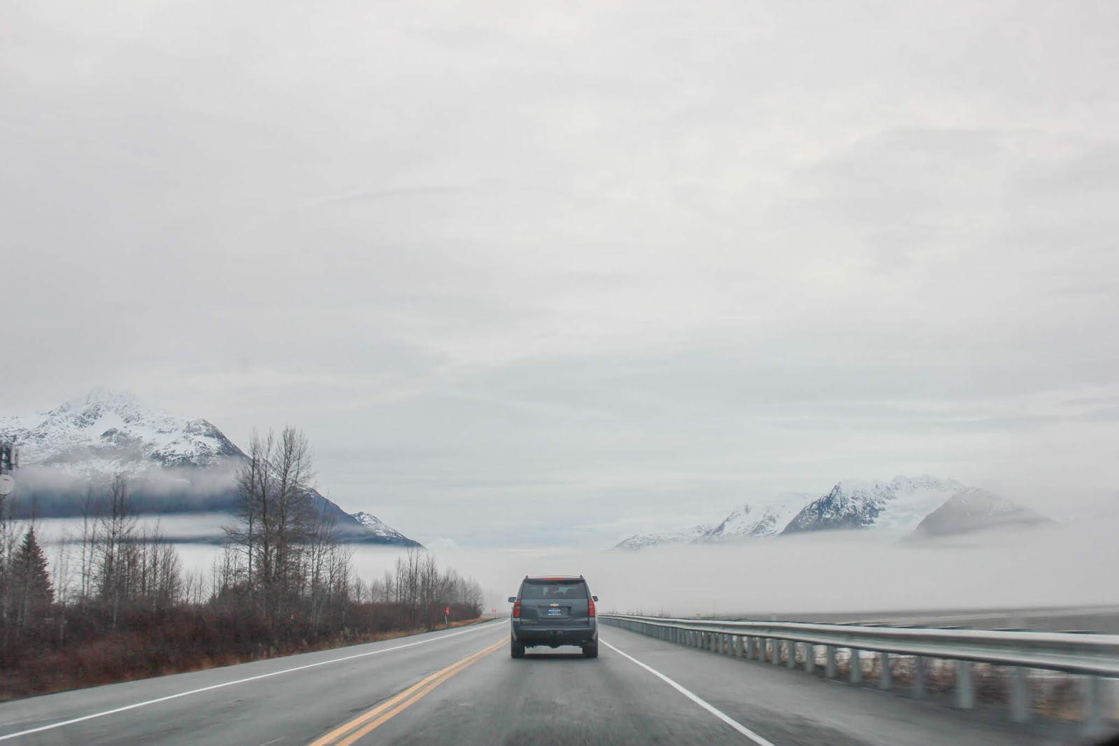 Road Trip along the Seward Highway from Anchorage to Seward, Alaska
