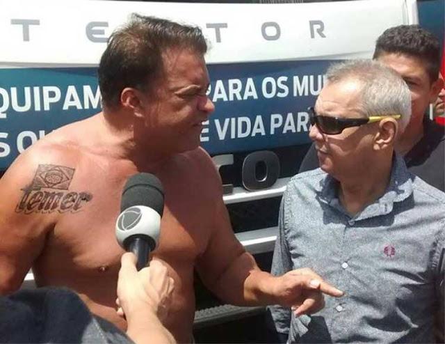 Deputado que fez tatuagem de Temer pede 'nude' durante votação