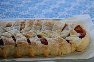 Trenza de fresas y chocolate blanco, receta