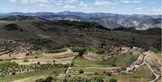 Vistas de Culla desde el castillo, provincia de Castellón.