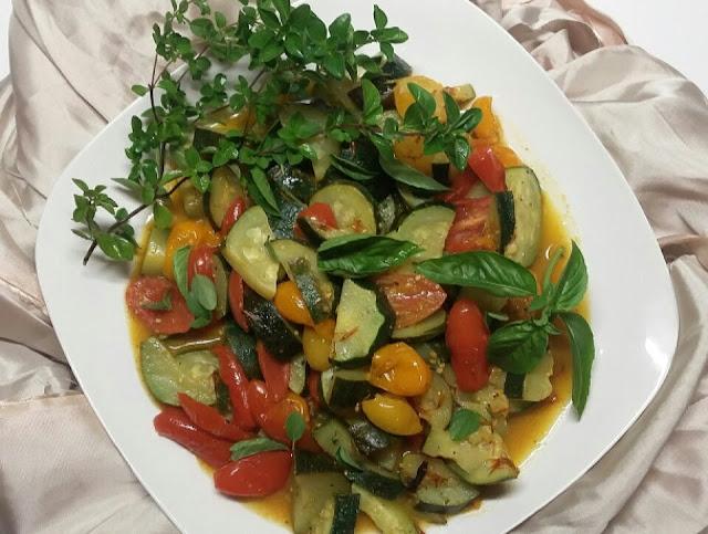 zucchini & tomatoes