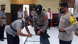 AKBP Muhammad Islam,Pimpin Serah Terimah Jabatan Dilingkup Polres Wajo