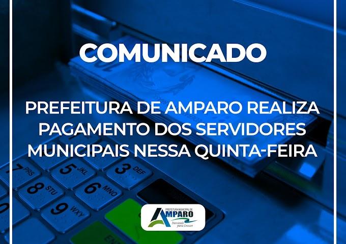 Prefeitura de Amparo realizou pagamento dos Servidores referente ao mês de Julho