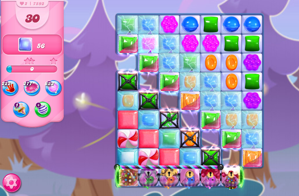 Candy Crush Saga level 7592