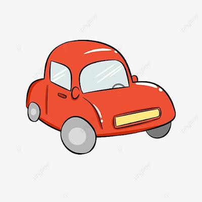 Gambar mobil kartun yang mudah