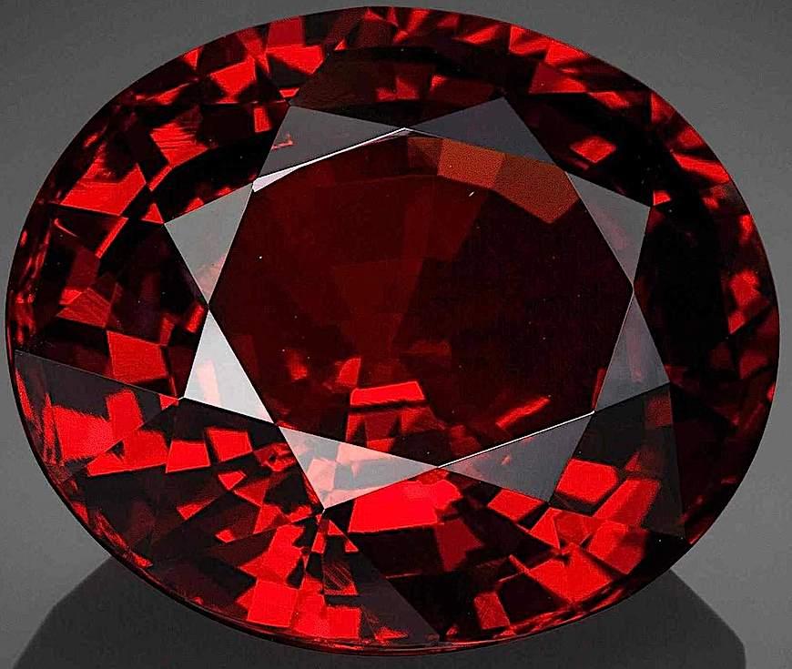 a photograph of a red garnet