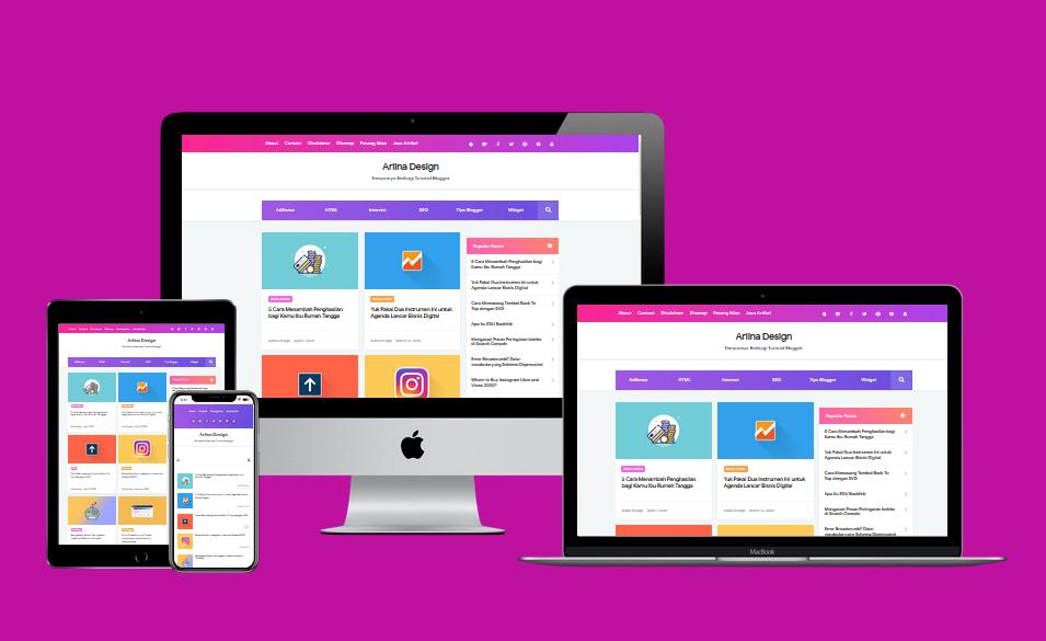 Arlina Design 2020 Theme Responsive Blogger